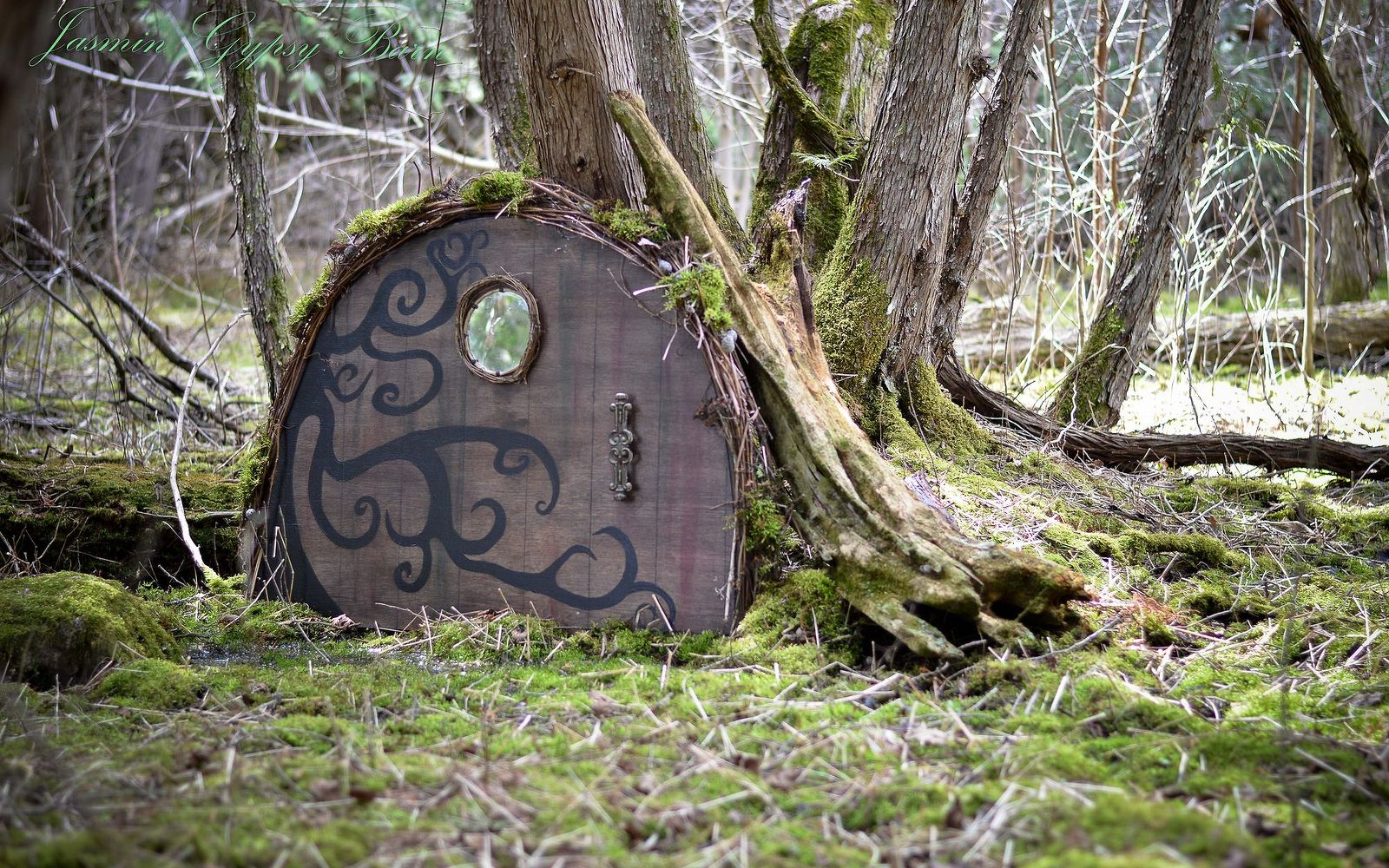 s 15 lovely repurposed items perfect for your garden, Create A Magic Doorway From A Broken Table