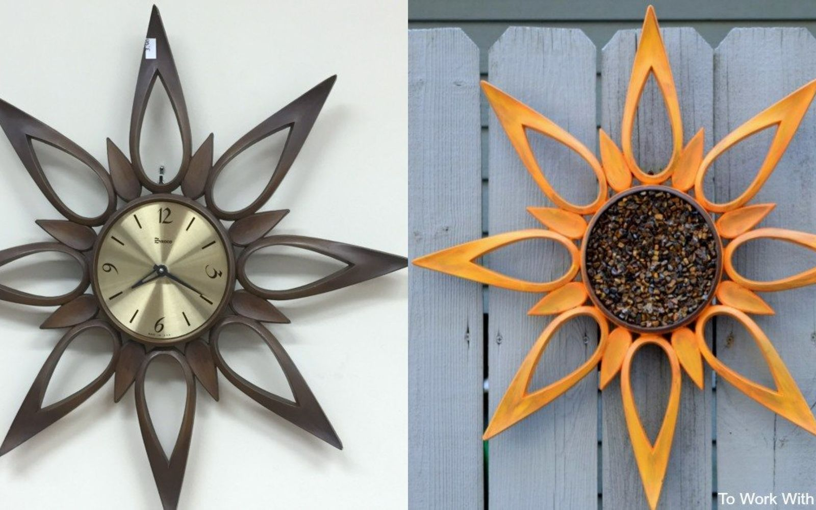s 15 lovely repurposed items perfect for your garden, Recreate A Clock Into A Garden Sunflower