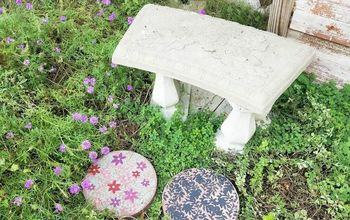Easy Painted Pavestone for Garden Decor