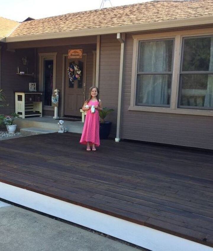 diy curved floating deck