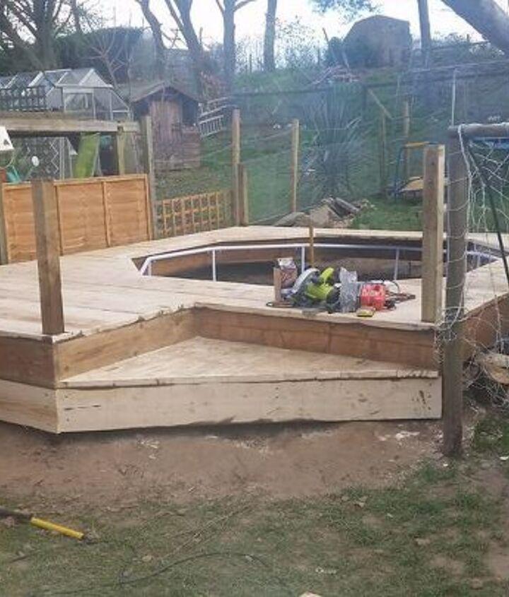 scaffold board pool deck