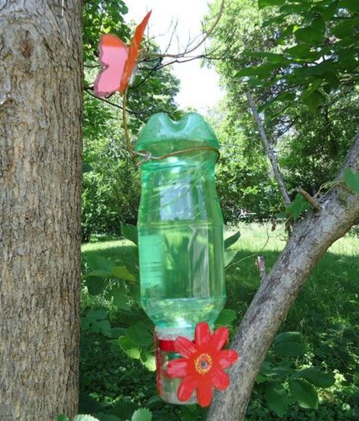 s 15 loving repurpose projects your family can do for birds, Turn A Soda Can Into A Hummingbird Feeder