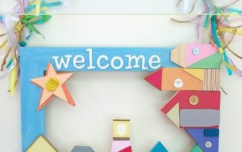 Create a Beach Themed Welcome Sign for Summer!