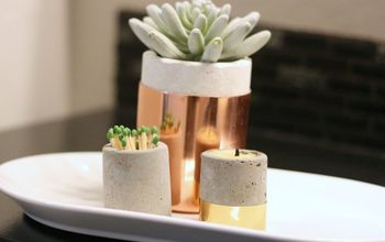 Concrete Candle Holders (Or Put a Succulent in It!)