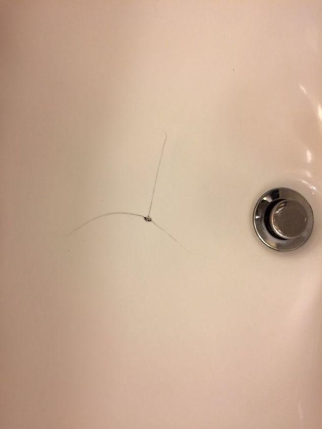 Huge In My Porcelain Sink, Bathroom Sink Chip Repair