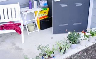 apartment patio garden on a budget before and after