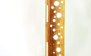 make a resin wood and led lamp