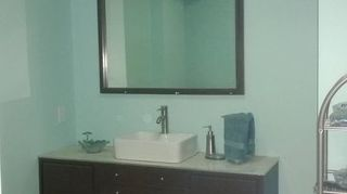 , Glass tile on painted dresser