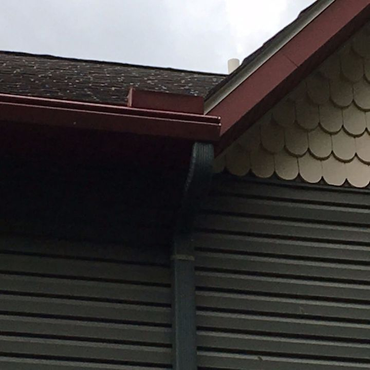 q roof rainwater over shoots gutters