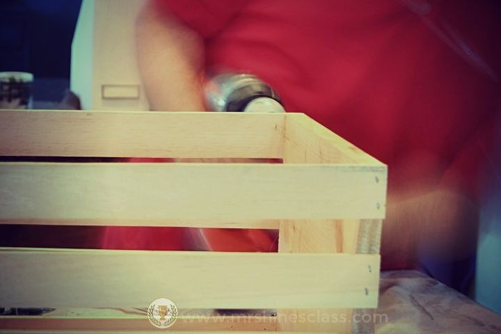 live diy turn a plain crate into a portable printer stand