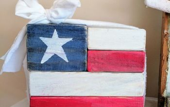 DIY Patriotic Wooden Flag Decor