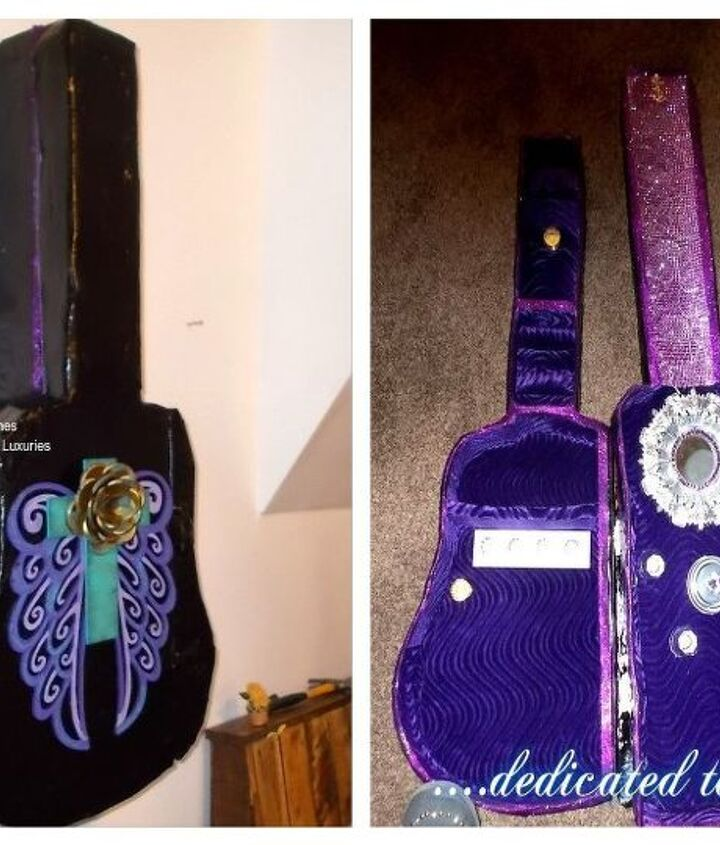 diy guitar case lighted jewelry organizer
