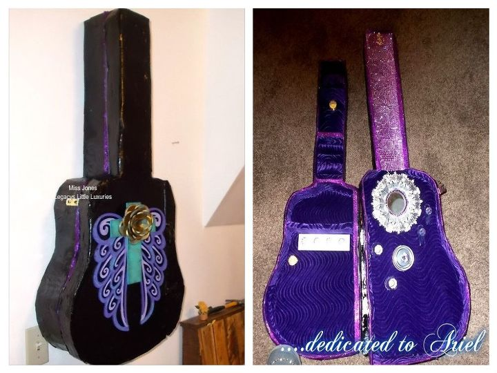 diy guitar case lighted jewelry organizer