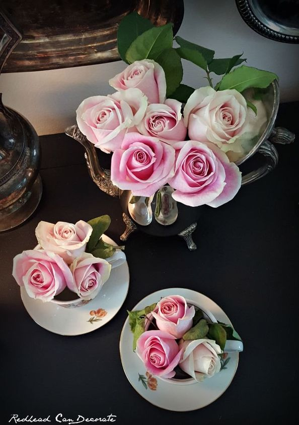 s 30 brilliant things you can make from cheap thrift store finds, Abandoned tea set to stunning floral display