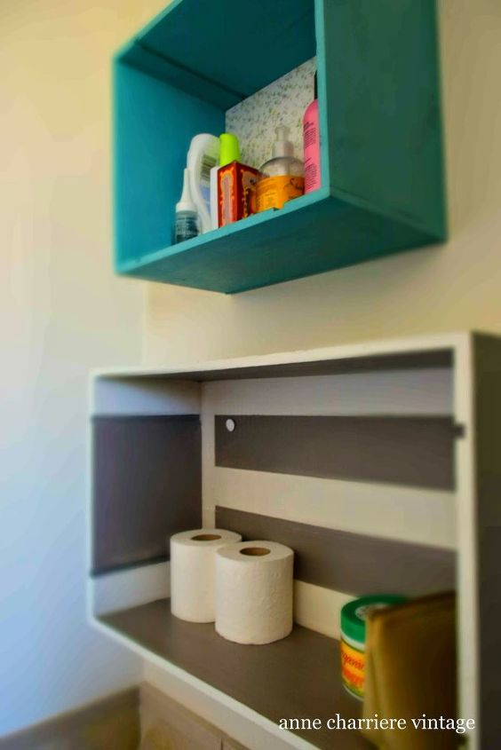 s jazz up your bathroom with these 30 stylish additions, Repurpose Spare Drawers As Neat Shelves