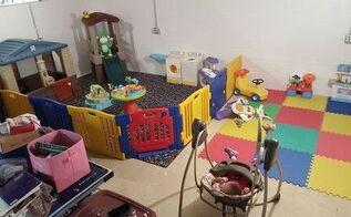 basement playroom on a budget
