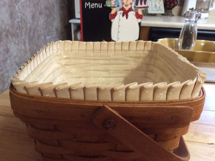q how to wash a longaberger basket fabric insert