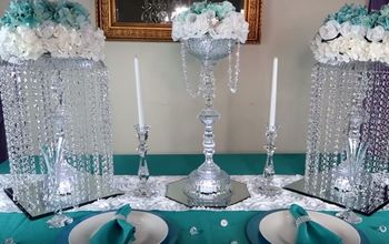 diy lighted chandelier, All dressed up for an event