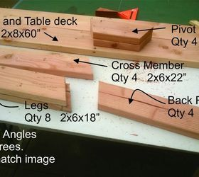 How to make a convertible picnic table bench