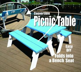 Awesome How To Make A Diy Convertible Picnic Table That Folds Into A Forskolin Free Trial Chair Design Images Forskolin Free Trialorg