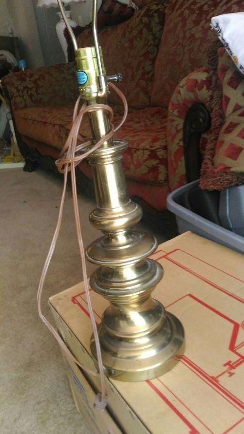 q what can i use to clean brass lamps