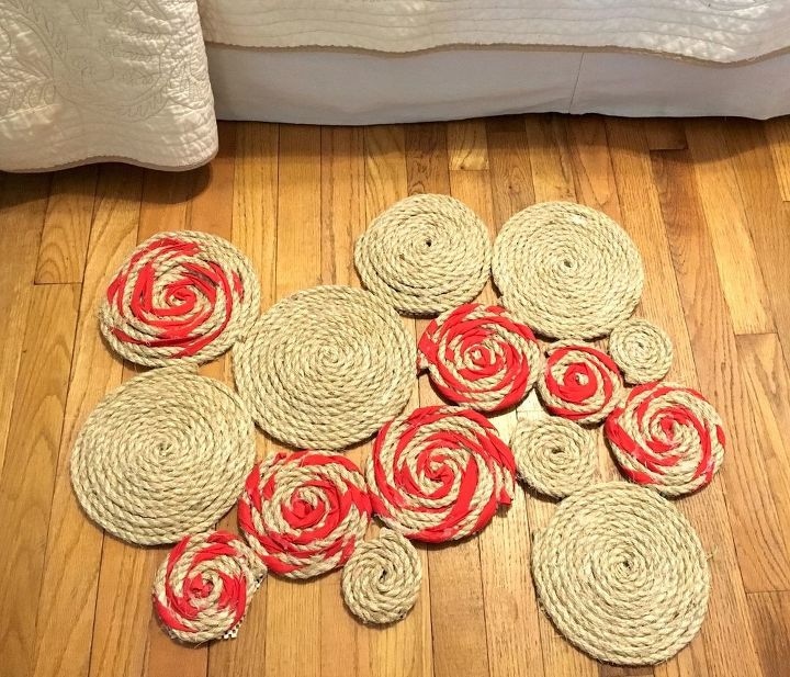 s 10 quick and easy rug ideas to brighten up your space, Roll Rope And Spandex