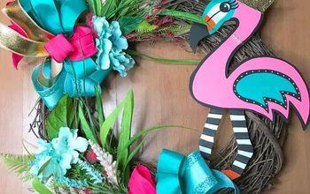 Summer Flamingo Wreath