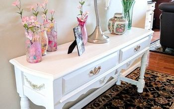 An Old Table Goes From Frightful To Delightful With Fusion Paint!