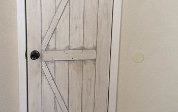 Faux Painted Barn/shed Door for Closet