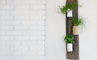 marble herb wall planter