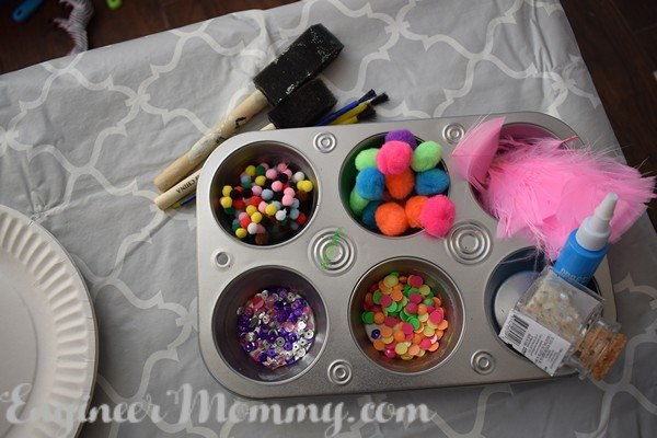 s 30 clever ideas to reuse muffin pans and cupcake liners, Organize Your Craft Supplies When You Work