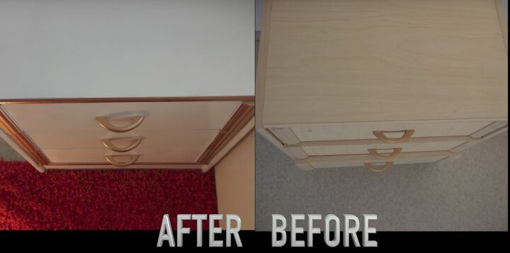diy bedside table nightstand before after