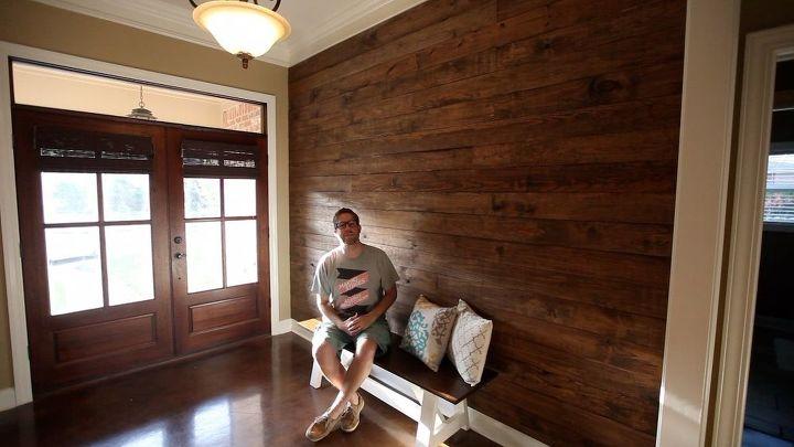 diy wood plank wall