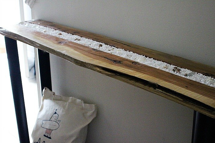 Make A Shadow Box Console Table From An Old Piece Of Wood Hometalk - Shadow box console table