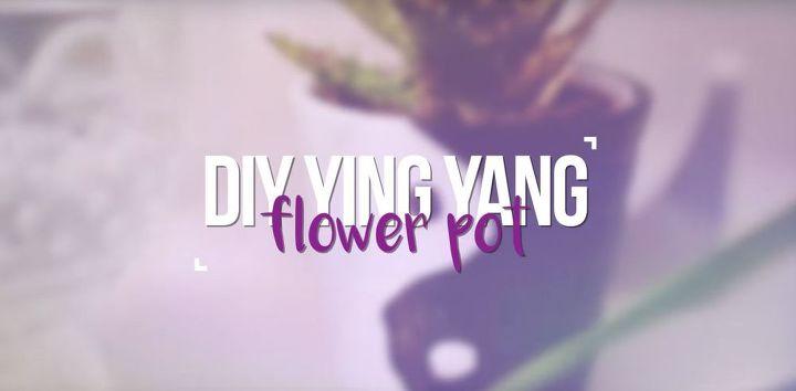 ying yang flower pot
