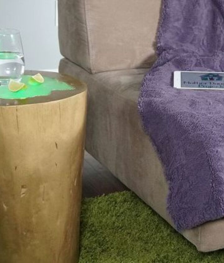 diy led log table