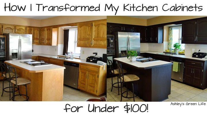 how i transformed my kitchen cabinets for under 100