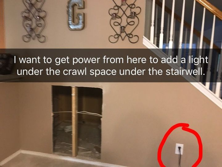 q can i draw power from a wall outlet to add a light and light switch