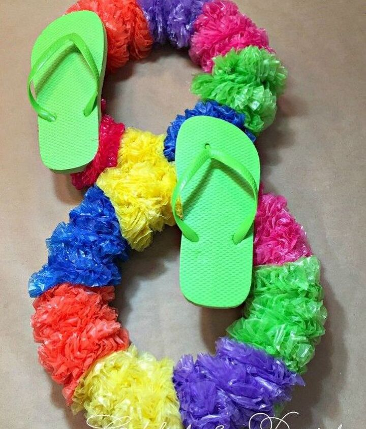 dollar store diy summer fun wreath