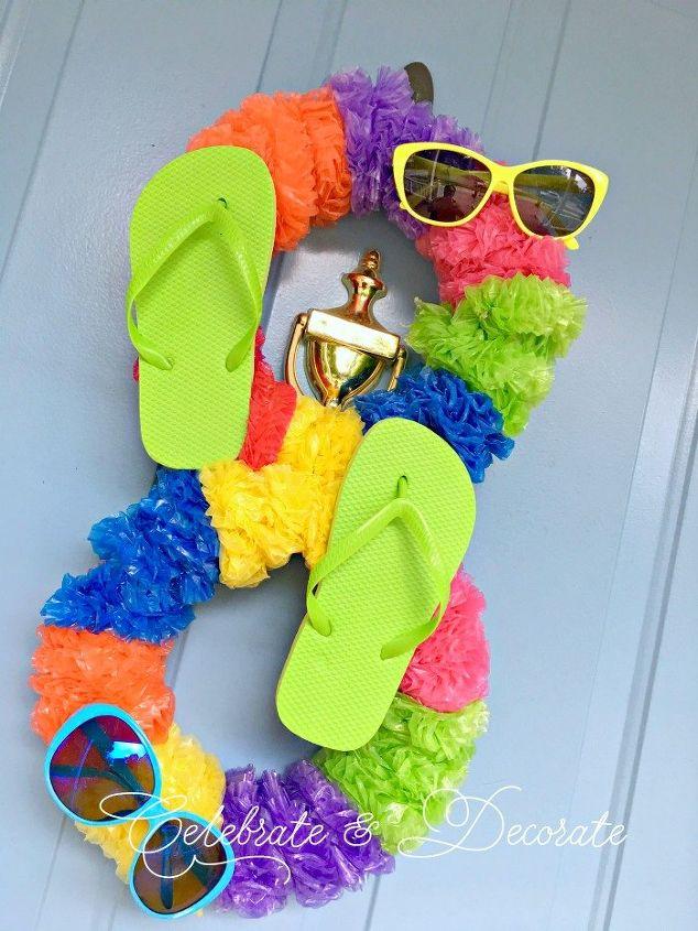 dollar store diy summer fun wreath