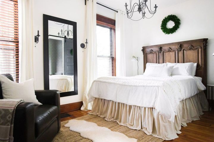 s 15 brilliant ways to makeover your drab bedroom, Have A Flowing No Sew Drop Cloth