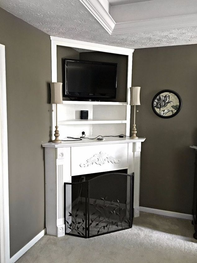 s 15 brilliant ways to makeover your drab bedroom, Build A Beautiful Fireplace Mantel