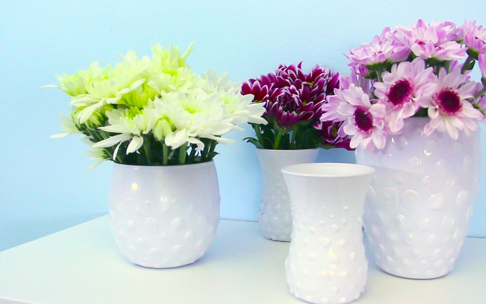 s 15 incredible vases you can make for your bestie on a budget, Make A Hobnail Heirloom With 1 Glass