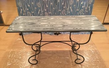 faux wood grain table