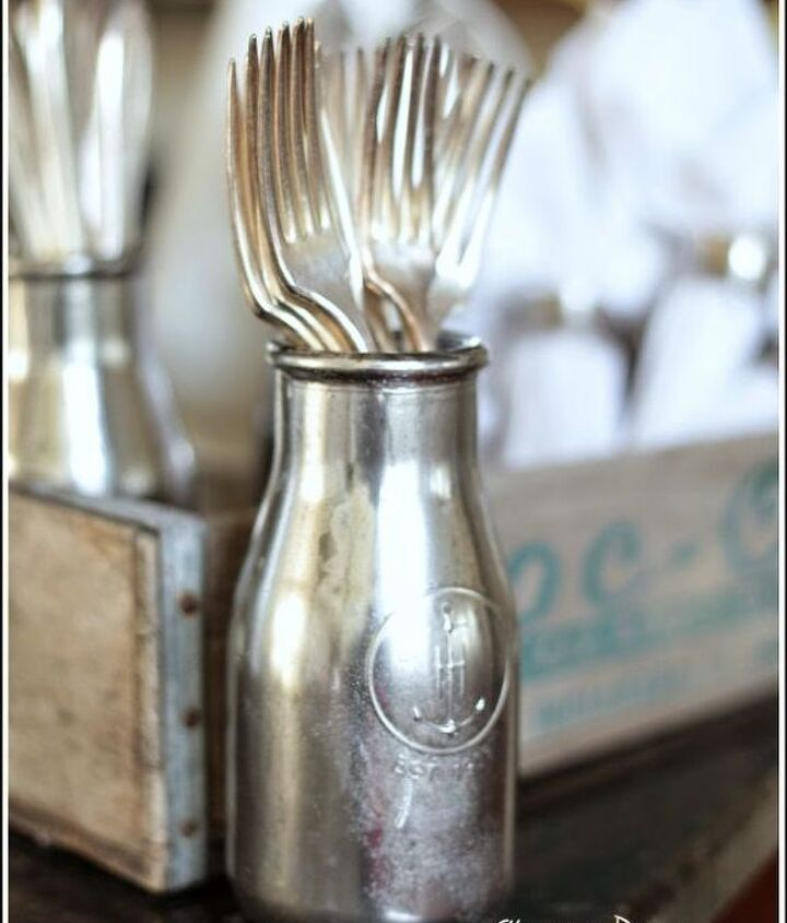 s 30 gorgeous ways to keep your home organized, Spray Paint Bottles To Store Your Cutlery