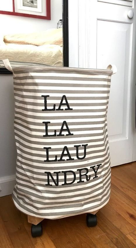 s 30 gorgeous ways to keep your home organized, Build A Rolling Laundry Basket With A Barrel