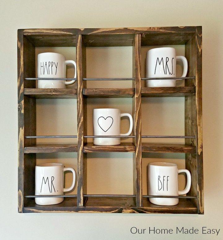 s 30 gorgeous ways to keep your home organized, Build A Farmhouse Style Mug Holder