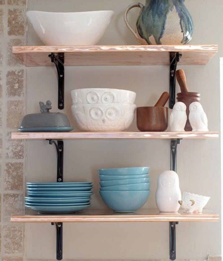 s 15 kitchen updates under 20, Fold Copper For Shelving