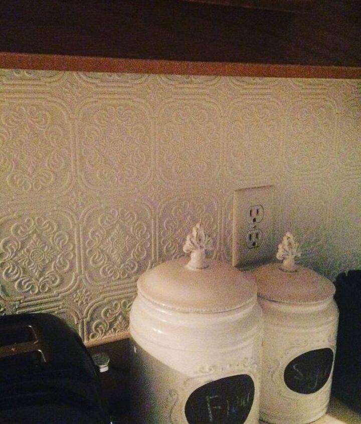 s 15 kitchen updates under 20, Brush On Textured Wallpaper