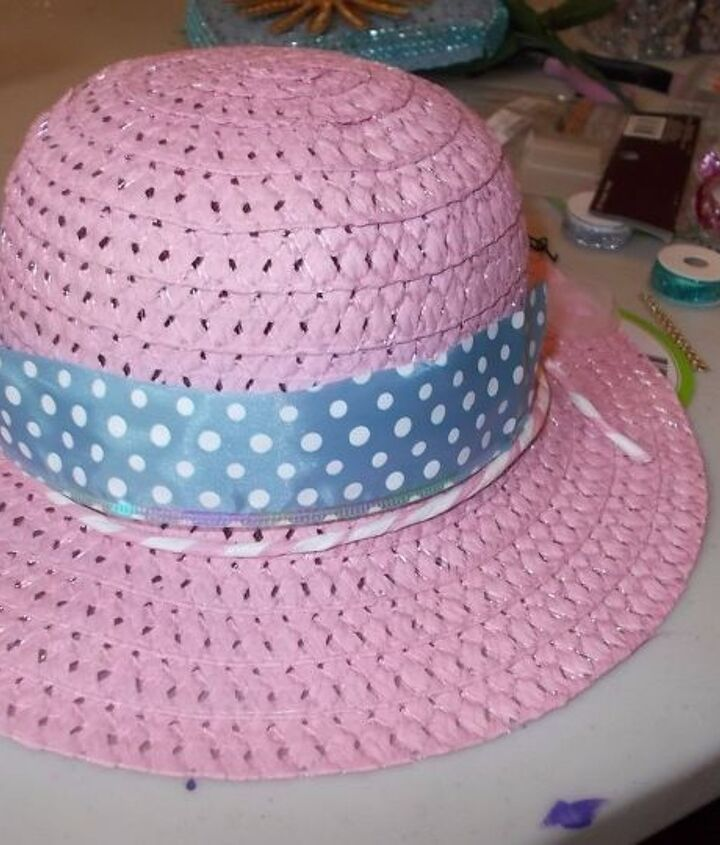 hat and purse dollar tree door decoration by miss jo